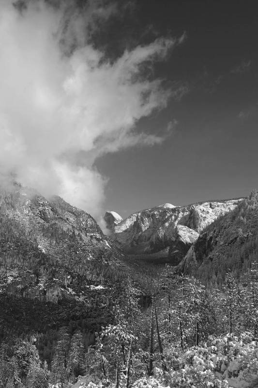 Half Dome Art Print featuring the photograph Half Dome Winter by Travis Day