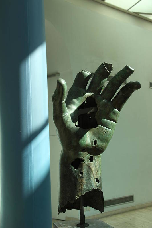 Hand Museum Italy Capitolini Work Art Art Print featuring the photograph Hand by Nikola Ralevic