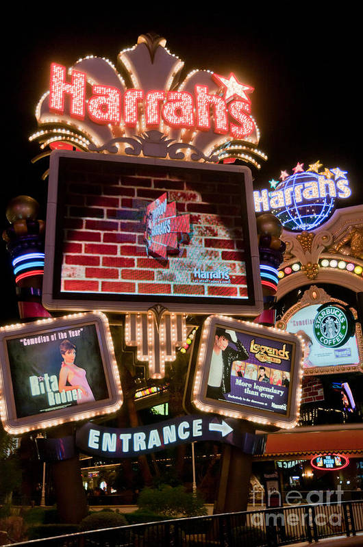 Las Vegas Art Print featuring the photograph Harrahs by Andy Smy