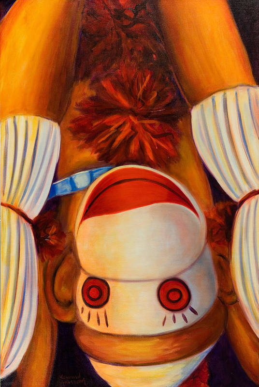 Children Art Print featuring the painting Head-over-heels by Shannon Grissom