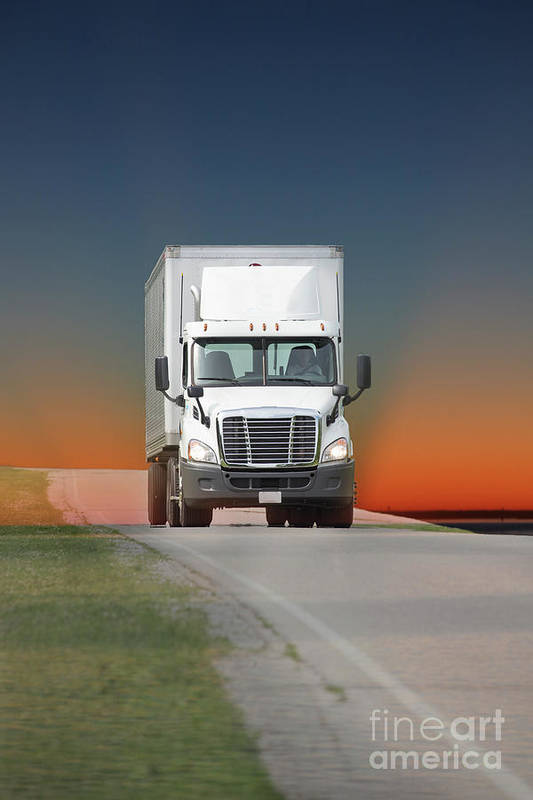 Truck Art Print featuring the photograph Heading East by Randy Kostichka