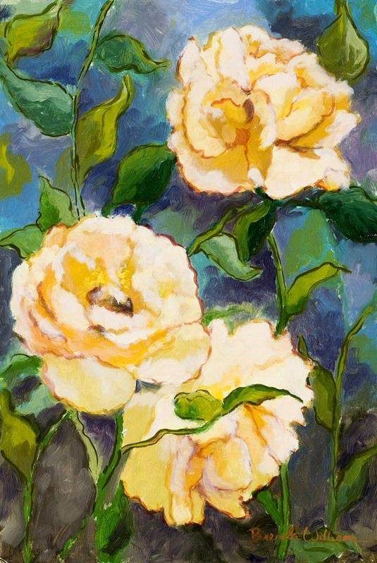 Roses Art Print featuring the painting Heaven On Earth Roses by Brenda Williams