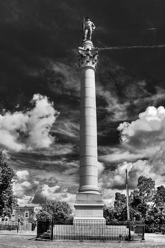Confederate Solider Art Print featuring the photograph Honoring The Fallen by Tim Wilson
