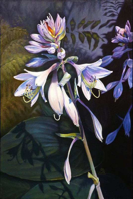 Flower Art Print featuring the painting Hosta La Vista by Birgit Coath - AFCA