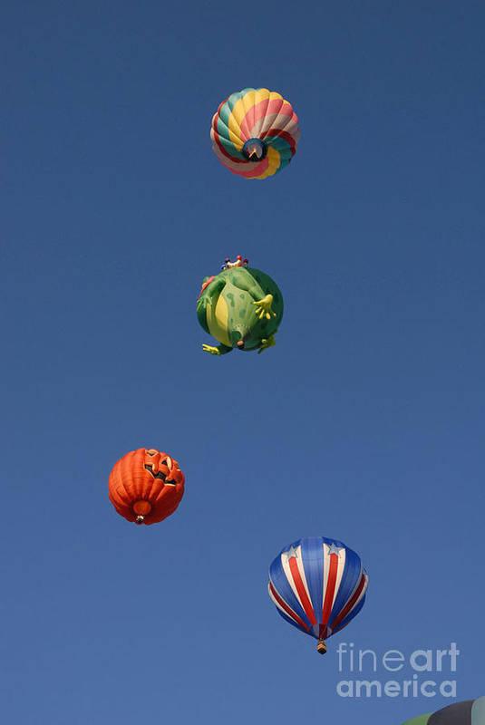 Hot Air Balloon Art Print featuring the photograph Hot Air Rally by Dennis Hammer