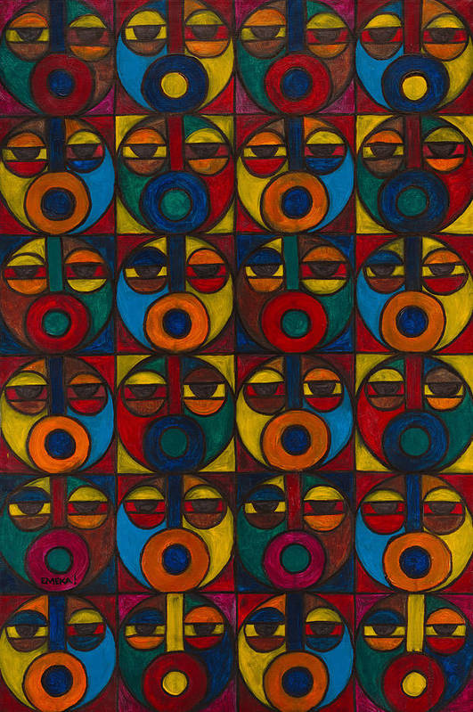 Art Print featuring the painting Humanity by Emeka Okoro