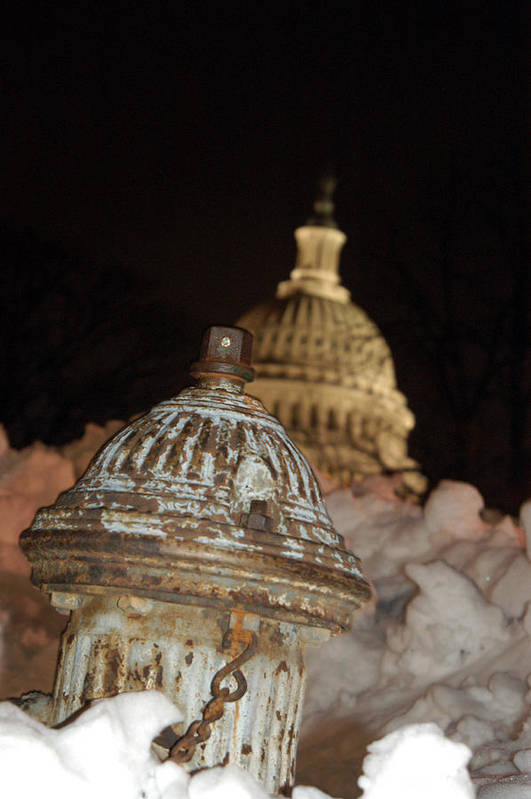 Washington Dc Art Print featuring the photograph Hydrant Capitol Washington Dc by Thomas Michael Corcoran