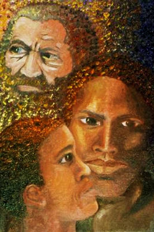 Portrait Art Print featuring the painting I Am A Man by Alima Newton