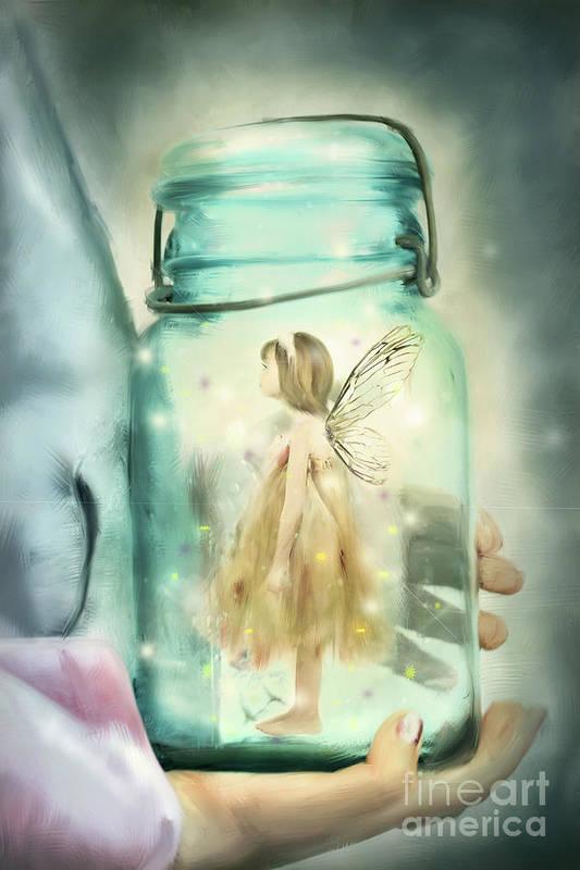 Fairy Art Print featuring the photograph I Believe by Stephanie Frey