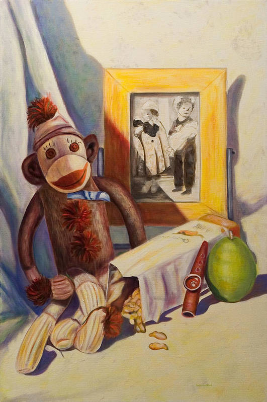 Children Art Print featuring the painting I Will Remember You by Shannon Grissom