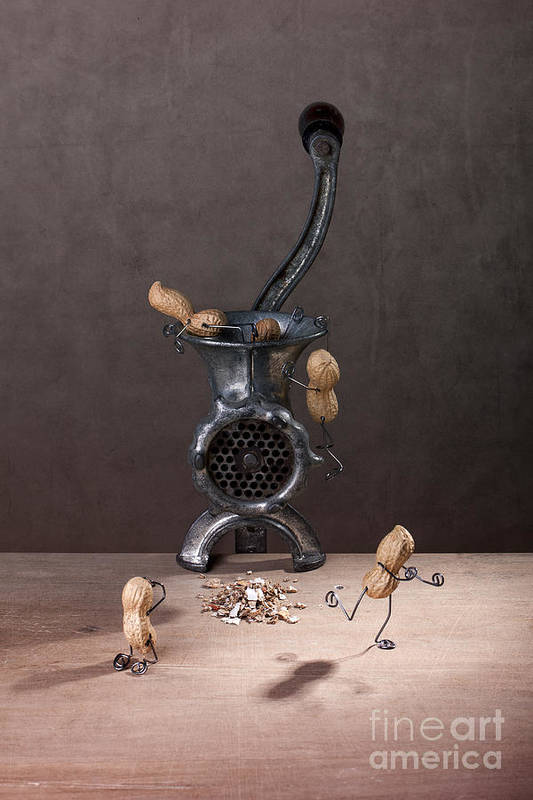 Peanut Art Print featuring the photograph In The Meat Grinder 01 by Nailia Schwarz