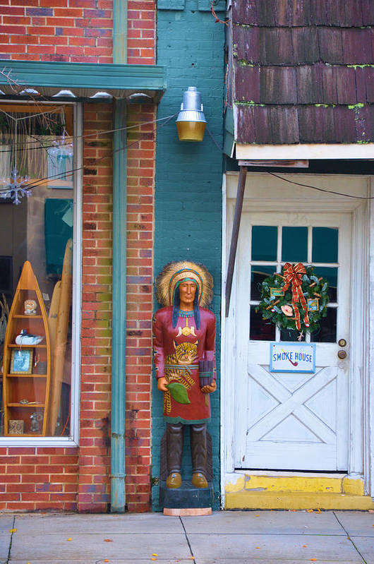 Architectural Art Print featuring the photograph Indian Chief by Jan Amiss Photography