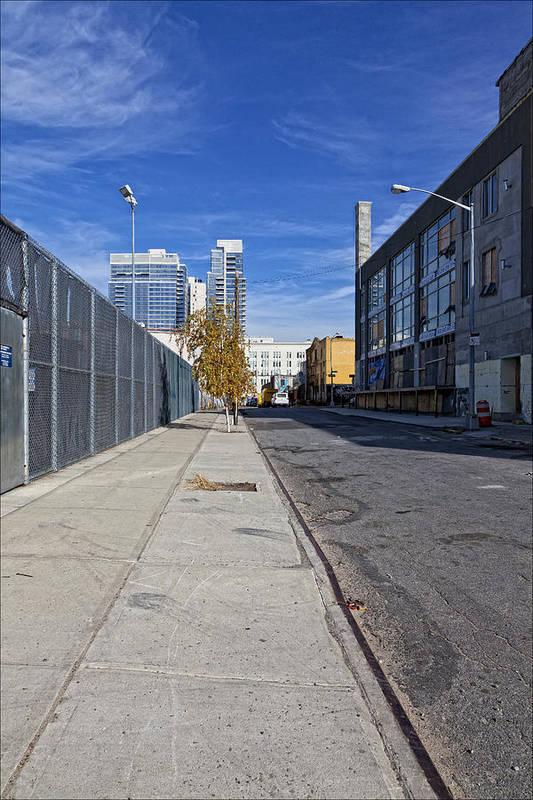 Perspective Art Print featuring the photograph Industrial Street by Robert Ullmann