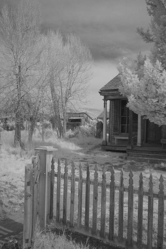 Bannack Mt Art Print featuring the photograph Infrared House by Carl Hinkle