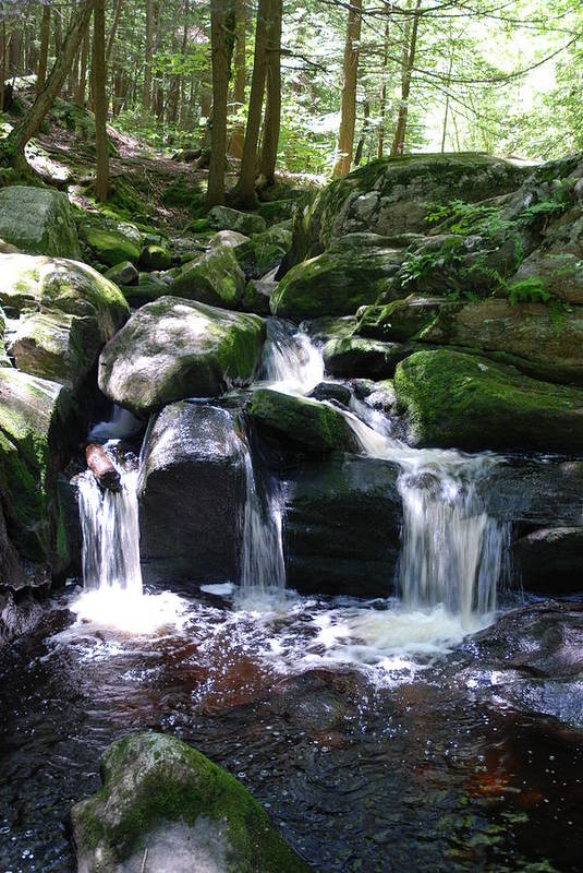 Waterfall Art Print featuring the photograph Into The Pool by Clay Peters Photography