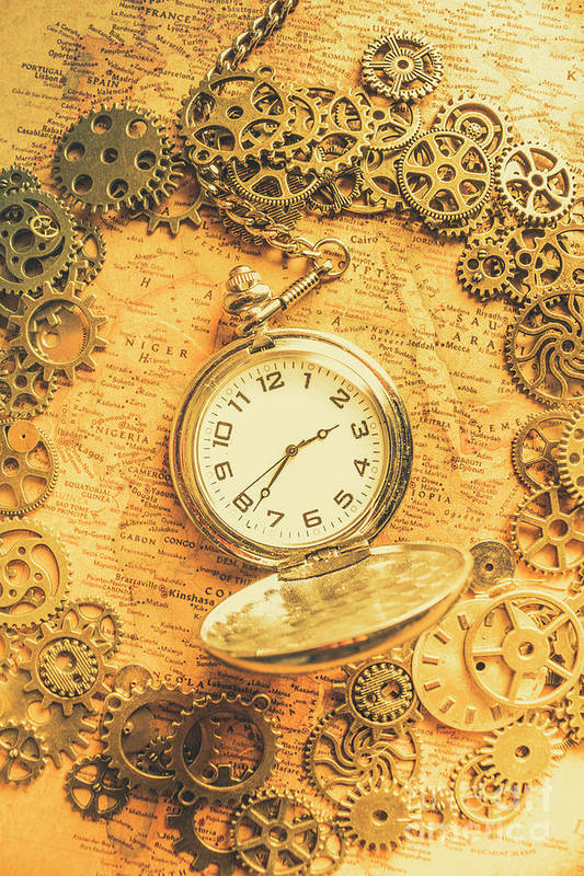 Machine Art Print featuring the photograph Invention Of Time by Jorgo Photography - Wall Art Gallery