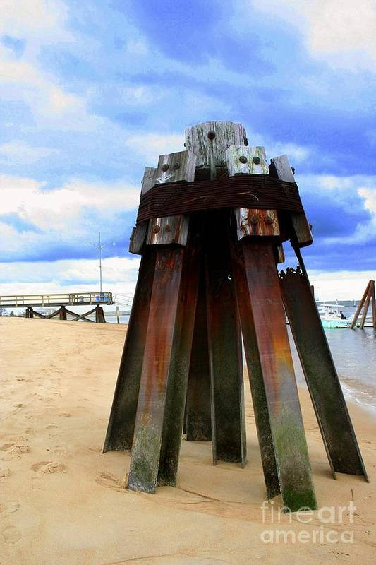 Plum Island Art Print featuring the photograph Iron Structure by John Kenealy