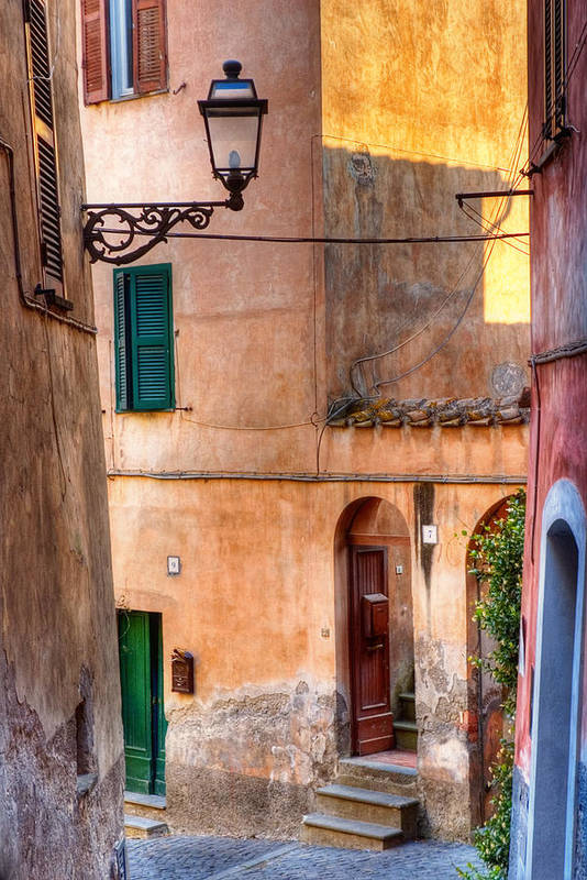 Old Art Print featuring the photograph Italian Alley by Silvia Ganora