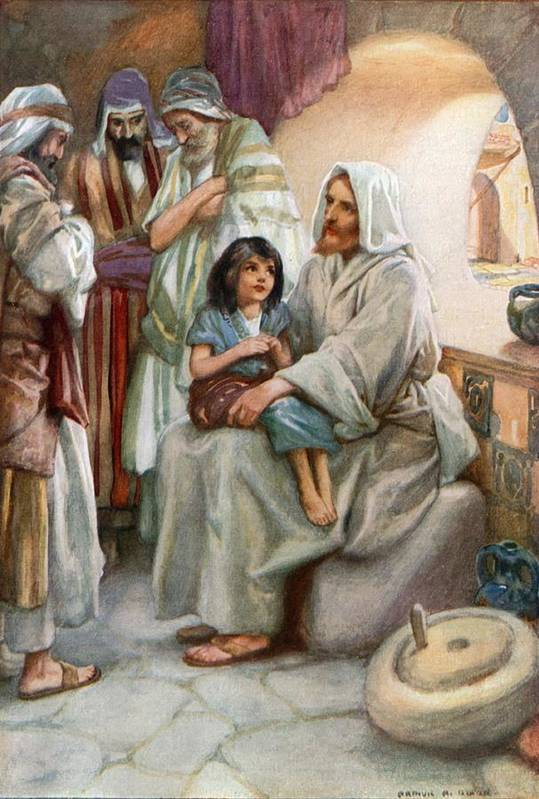 Bible; Biblical; Stories; Jesus; Teaching; People Art Print featuring the painting Jesus Teaching The People by Arthur A Dixon