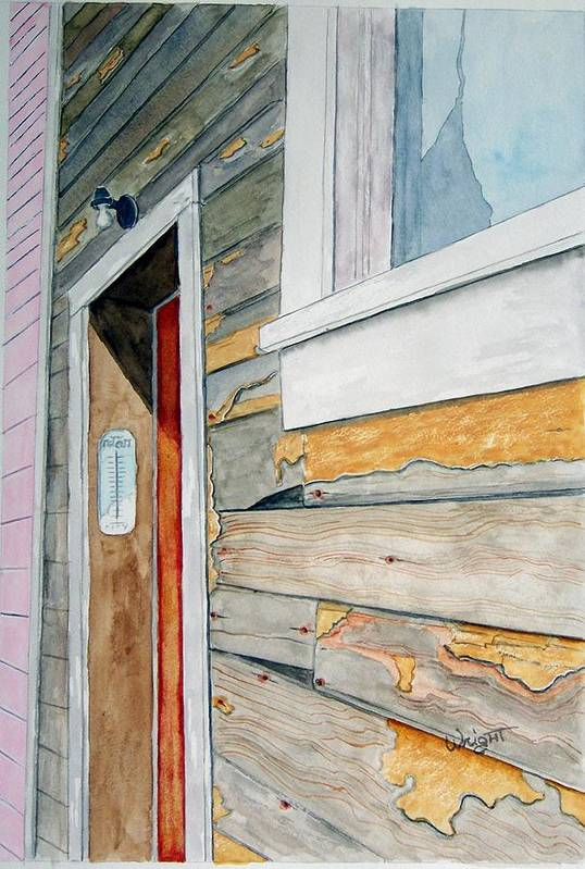 House Art Print featuring the painting Juneau Townhouse by Larry Wright