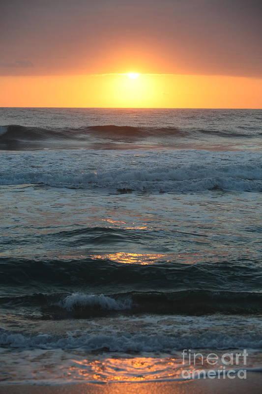 Kauai Art Print featuring the photograph Kauai Sunrise by Nadine Rippelmeyer