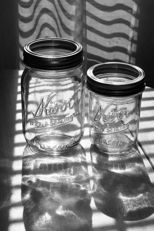 Glass Art Print featuring the photograph Kerr Jars by Steve Augustin