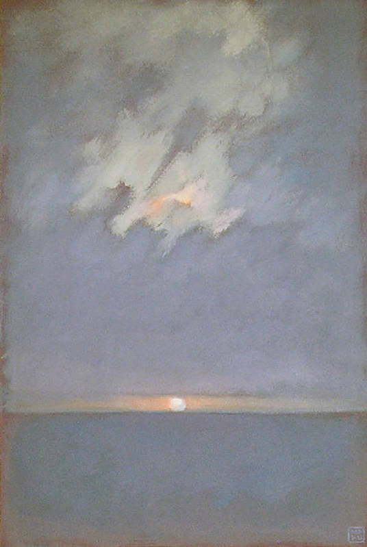 Seascape Art Print featuring the painting Keyhole by Mary Brooking