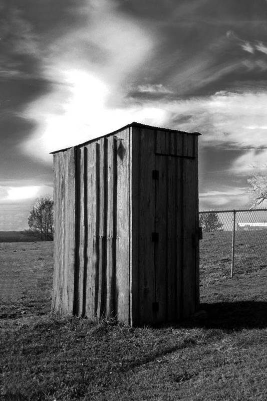 Ansel Adams Art Print featuring the photograph Koyl Cemetery Outhouse by Curtis J Neeley Jr