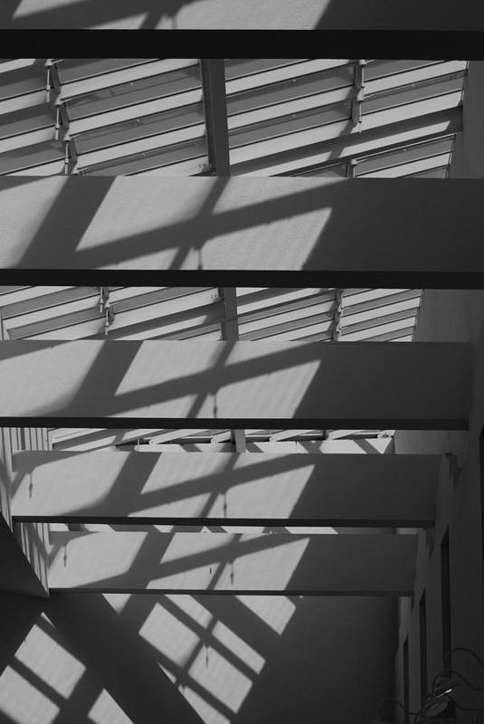 Black And White Art Print featuring the photograph Ladders In The Sky by Rob Hans