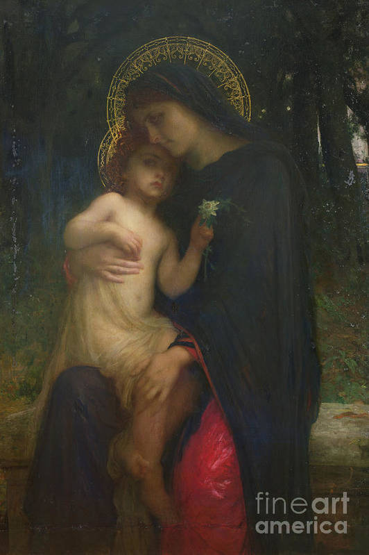 L'addolorata Art Print featuring the painting Laddolorata by Antoine Auguste Ernest Herbert or Hebert