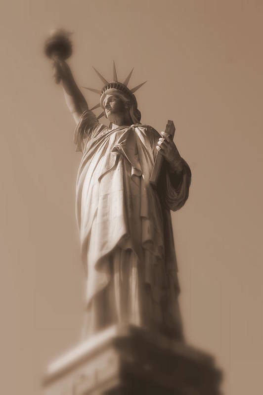 Statue Of Liberty Art Print featuring the photograph Lady Liberty by Susan Crittenden