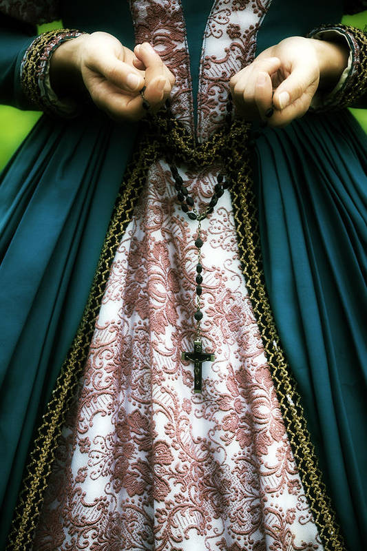 Woman Art Print featuring the photograph Lady With Rosary by Joana Kruse