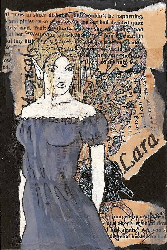 Fairy Art Print featuring the mixed media Lara Fairy by Joanne Claxton