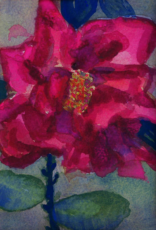 Pinks Art Print featuring the painting Last Rose Of Summer by Helen Musser