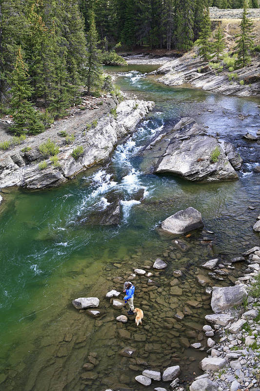 Fly Fishing Art Print featuring the photograph Late Season Fishing On The Gros Ventre by Drew Rush