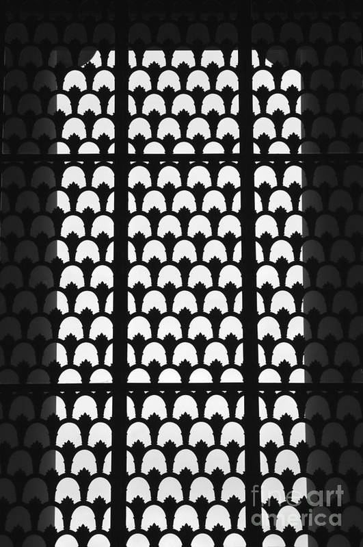 Column Art Print featuring the photograph Latticed Window by Hideaki Sakurai