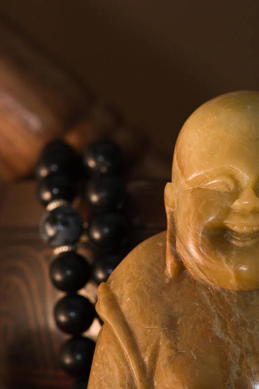 Buddhist Art Print featuring the photograph Laughing Buddha by Edward Myers