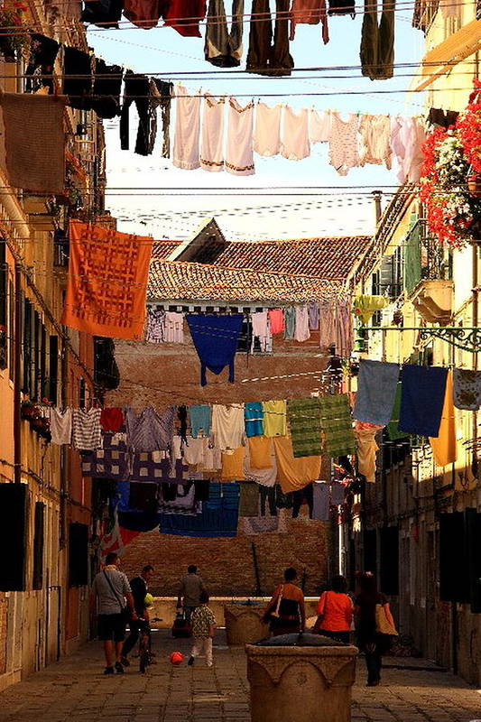 Venice Art Print featuring the photograph Laundry Day In Venice by Michael Henderson