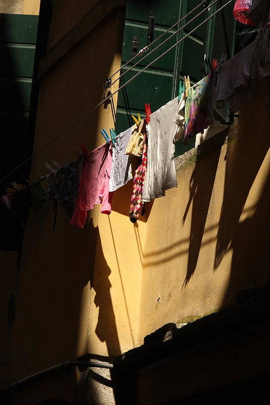 Art Print featuring the photograph Laundry In The Sun In Venice by Michael Henderson