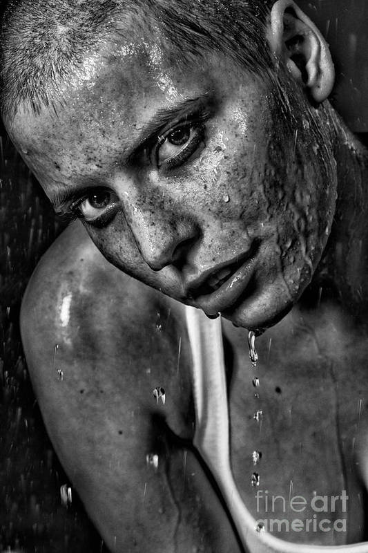 Woman Art Print featuring the photograph Lena by Eugene Volkov