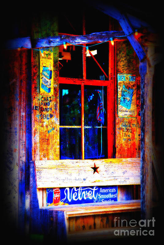 Luckenbach Art Print featuring the photograph Let's Go To Luckenbach Texas by Susanne Van Hulst