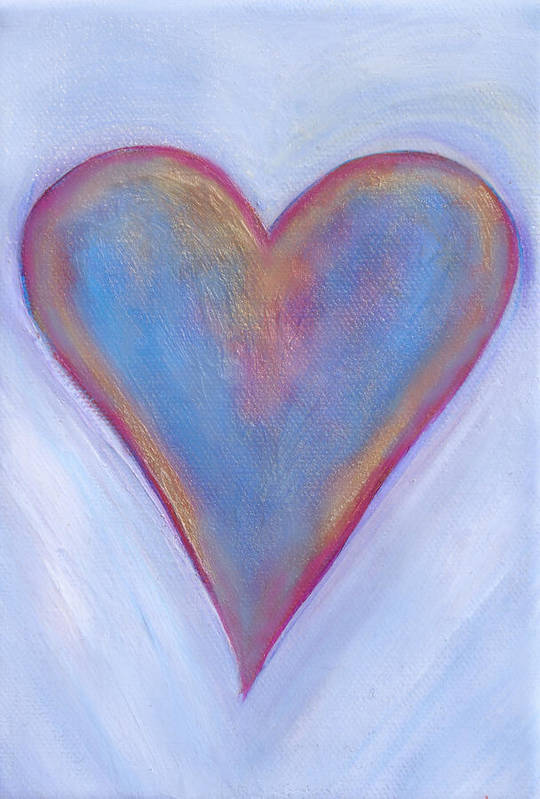 Art Print featuring the painting Light Blue Heart by Samantha Lockwood
