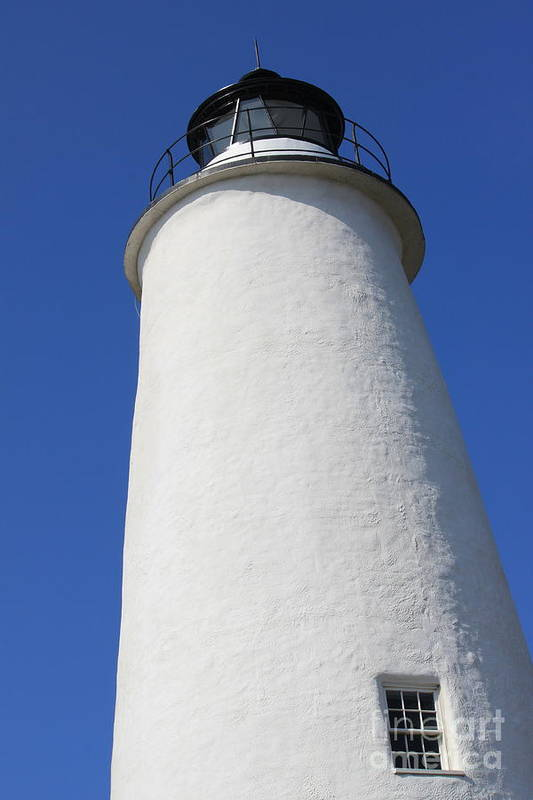 Lighthouse Art Print featuring the photograph Light Of Ocracoke by Bev Veals