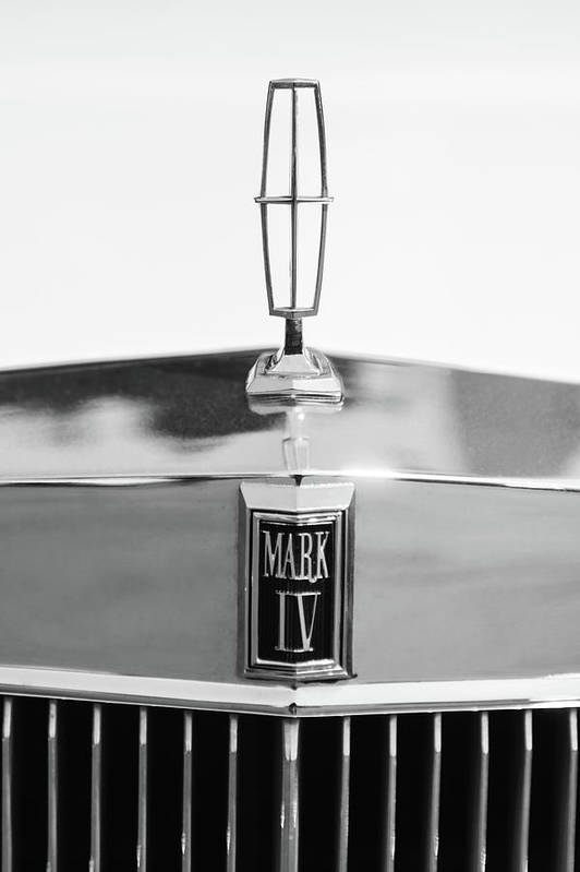 Lincoln Continental Mark Iv Hood Ornament Emblem