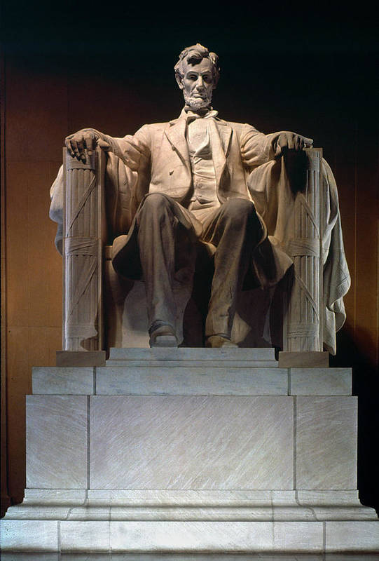 19th Century Art Print featuring the photograph Lincoln Memorial: Statue by Granger