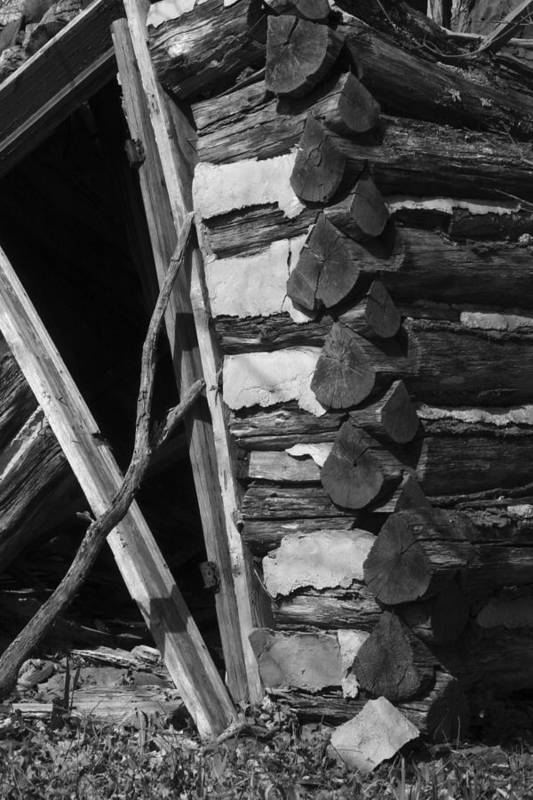 Art Print featuring the photograph lloyd-shanks-barn-3BW by Curtis J Neeley Jr