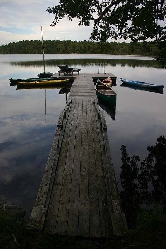 Landscape Art Print featuring the photograph Long Walk On Dock by Dennis Curry