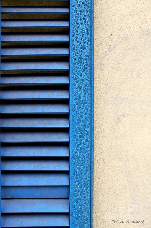 Abstract Art Print featuring the photograph Louvered by Todd Blanchard
