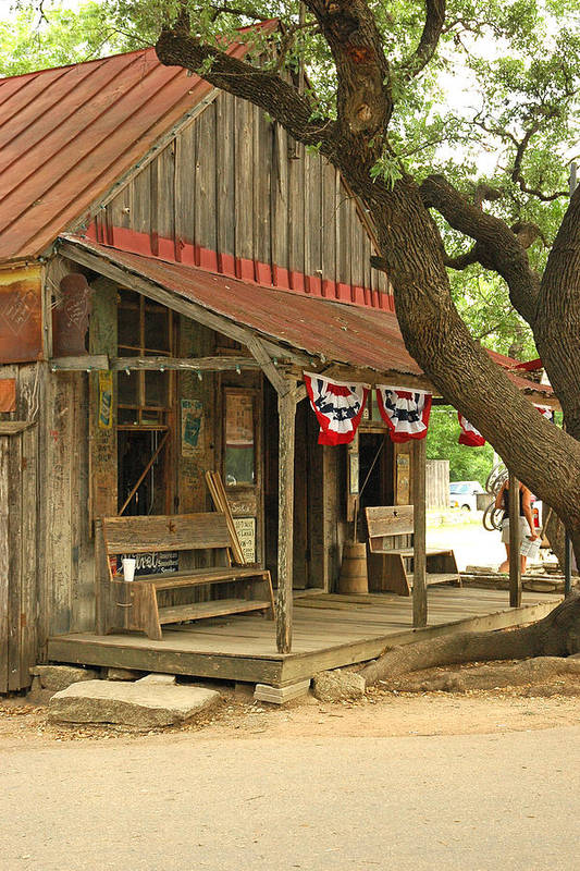 Luckenbach Art Print featuring the photograph Luckenbach Post Office by Robert Anschutz