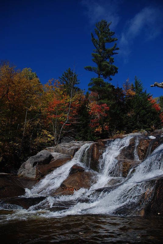 Waterfall Art Print featuring the photograph Maine Glory by Clay Peters